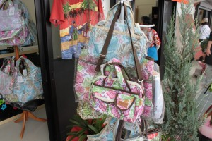 ハワイ図柄のバッグ